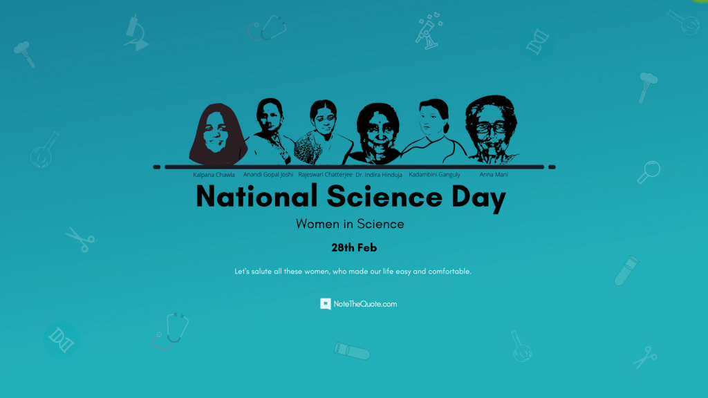 National Science Day-Women in Science-28th-Feb-by-NoteTheQuote.com-